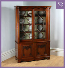Victorian Art Nouveau Mahogany Display Bookcase Cabinet Cupboard Shoolbred c1890