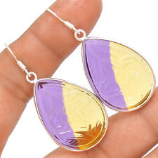 Carving - Ametrine 925 Sterling Silver Earrings Jewelry SE136446