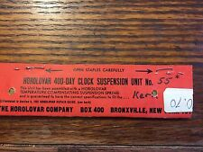 HOROLOVAR 400 DAY SUSPENSION UNIT KERN 55 NEW OLD STOCK Lot 438