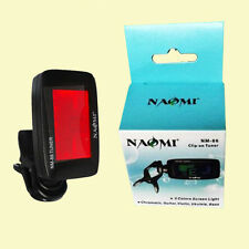 NAOMI GUITAR TUNER Clip-On Backlight LCD Chromatic/Bass/Guitar/Ukulele Tuner