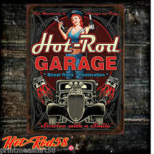 American Hot Rod Garage Route 66 Vintage Advertising Metal Tin Wall Signs UK