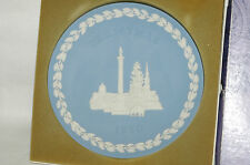 Wedgwood 1970 Blue Jasper Christmas Piccadily Circus Collector Plate