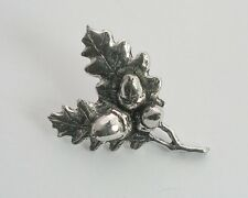 Acorn (Oak Leaf) Pin Badge, Handmade in Fine English Pewter