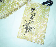 """100 Piece 9"""" X 6"""" Goldtone Gift Paper Jewelry Shopping Bags/Tote Bags  #GTone"""