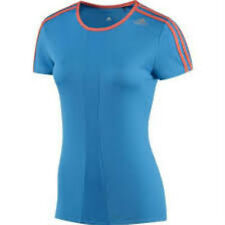 Adidas Womens Response Short Sleeve Tee Medium  12 - 14  Blue and Orange