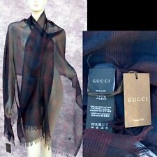 GUCCI Authentic New Designer Womens Cashmere Silk Shawl Scarf Wrap 80 x 30