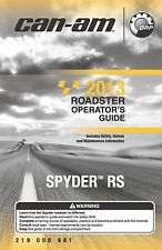 Can-Am Owners Manual 2013 Spyder RS