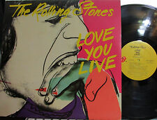 """Rolling Stones - Love You Live  (2 LP set) (Side 3 was at """"El Mocambo""""!) ('77)"""
