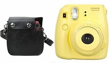 Fujifilm Instax Mini 8 Instant Film Camera (Yellow) + Polaroid Snap & Clip Case