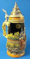 "Limited Edition German Lidded Beer Stein. Hand-painted ""Neuschwanstein Castle"""