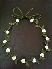 Baby Daisy Chain Garland Flower Head Band Tie Crown  - Photo Prop?