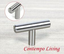 Solid Stainless Steel Kitchen Cabinet Bar T Pull Knob Handle Hardware