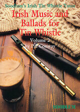 Soodlum's Irish Tin Whistle Tutor Celtic Ballads Play Pennywhistle Music Book 2