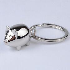 1Pcs Lovely Mini Pig Keychain Keyring Keyfob Cute Gift Ring Charm Decoration SK