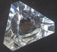 Beautiful Vintage 1980s CARTIER Art Deco Glass Crystal Ashtray