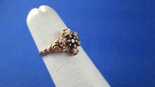 14k Yellow Gold w/ Sapphire and Seed Pearls Small Size 5