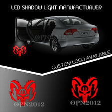 LED Laser Light Car Door Projector Ghost Shadow Puddle Lamp Logo Dodge Punisher