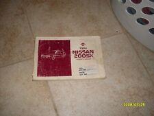 1984 Datsun 200 SX Owners Manual Owner's Guide Book Original