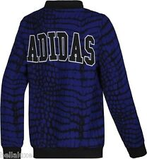 Adidas NEW YORK PRINTED SUPER GIRL Jacket CROCODILE Track Top firebird~Womens Lg
