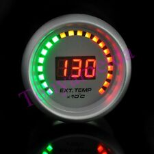 "Auto Car 2"" 52mm EGT Exhaust Gas Temp Gauge Meter Red Digital Color 20 LED White"
