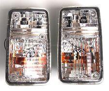 Turn signal indicator lights set pair Crystal-White fits NISSAN Patrol 90-97