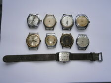 Job lot vintage gents wristwatches mechanical watches spares or parts incomplete