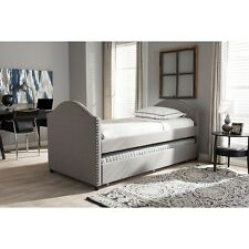 Alessia Modern & Contemporary Grey Fabric Upholstered Daybed W/Guest Trundle Bed