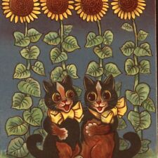 """LOUIS WAIN...ROMANTIC  BLACK CATS,""""DOES OO LOVE ME? SAY OO DO.."""" NISTER POSTCARD"""