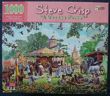 jigsaw puzzle 1000 pc Steve Crisp A Village Fayre Victorian Picnic Fair