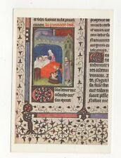 Birth Of The Virgin Burgundy Breviary British Museum Plain Back Card  608a