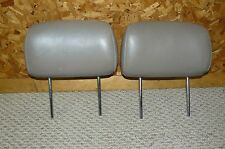 1996 - 2002 Toyota 4Runner 2pc Rear Seat Head Rest Set - Tan Brown Leather - OEM