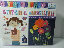 STITCH & EMBELLISH Kid's Craft Sewing Kit by Spice Box Age 8+ FUN FOR COTTAGE!