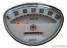 VESPA SPEEDOMETER RALLY SPRINT PRIMAVERA 0-120KM OFF WHITE NEW