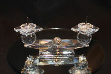 SWAROVSKI CRYSTAL RETIRED TWO CANDLE CANDLEHOLDER #  7600 NR 112 000