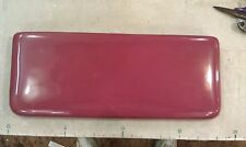 """9V37 MANSFIELD TOILET LID, ROSE/MAUVE, 21-3/4"""" X 9"""", SMALL SCRATCH ON TOP, GC"""