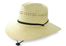 California Lifeguard Beach Hats Natural Straw Mens Sun Wide Brim One Size