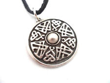 Viking Good Luck Shield English Pewter Pendant