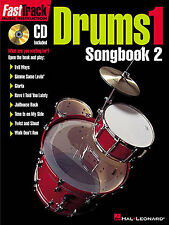 Fast Track Drums One Songbook Two Learn to Play Drummer Music Book & CD