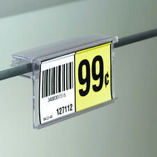 """Glass Shelf UPC Label Holder - Fits Shelves 1/4"""" or 3/16"""" Thick - 20 Pieces"""