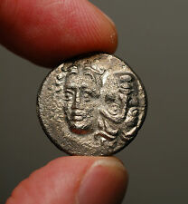 Z-169b  MOESIA, Istros. 4th cent BC. Silver Drachm  Facing male heads / Eagle