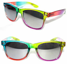 Men's Women's Wayfarer Sunglasses Multi-color Green Purple Blue Red Hippie Slv
