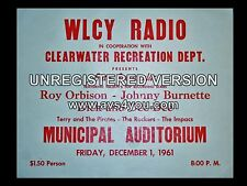 "Roy Orbison Clearwater 16"" x 12"" Photo Repro Concert Poster"