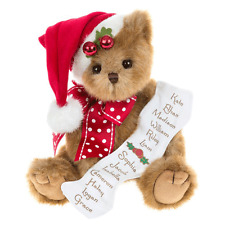 Bearington Christmas Teddy Bear Collection 2014 NICKY NICELIST
