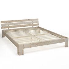 Legno letto matrimoniale 160 x 200 cm telaio del letto a doghe di legno natura