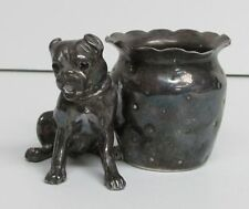 ANTIQUE AMERICAN  FIGURAL DOG TOOTHPICK HOLDER