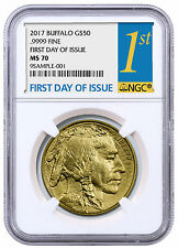 2017 $50 1 oz. Gold Buffalo NGC MS70 First Day of Issue PRESALE SKU44853