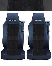 2 UOMO TGA TGX TGL TGM TGS Coprisedili Fatti su misura Logo Camion Nera/nera LUX