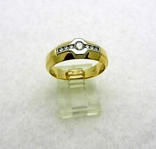 Solid 14k Yellow Gold Diamonds 0.30 tcw anniversary Wedding Mens Ring Band