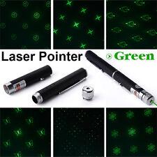 Green Grün Laser Pointer mit 6 Formen Laserpointer Pen Strahl Stern 532nm 1mW