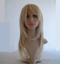 @ Fashion Long Straight Layered Blonde salon Wigs hair care Wigstyle A22